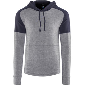 Icebreaker Momentum LS Hood Men Midnight Navy/Snow Hthr/Midnight Navy